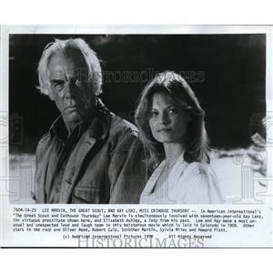 1976 Press Photo Lee Marvin in The Great Scout and Cathouse Thursday