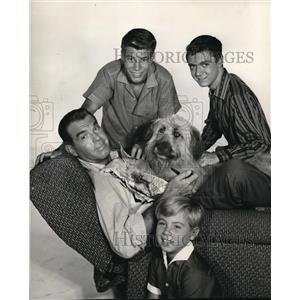 1960 Press Photo Fred MacMurray, William Frawley and Tim Robbie in My Three Sons