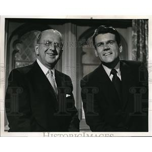 1968 Press Photo Norman Peale and Don Murray in One Man's Way