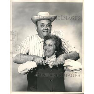 "1971 Press Photo Bob Milam and Eva Labby ""The Most Happy Fella"""