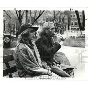 1977 Press Photo Paul Newman and Lindsay Crouse in Slap Shot - orp20261