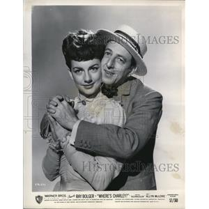 1952 Press Photo Ray Bolger and Allyn McLerie in Where's Charley? - orp20985
