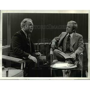 1973 Press Photo Dick Cavett and Carol O'Connor on The Dick Cavett Show