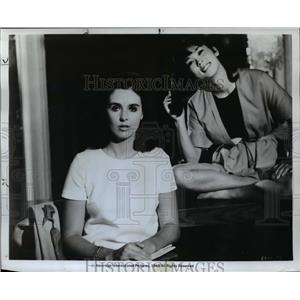 1968 Press Photo Millie Perkins and May Ishihara star in Wild in the Streets