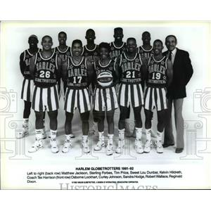 1992 Press Photo Harlem Globetrotters 1991-92