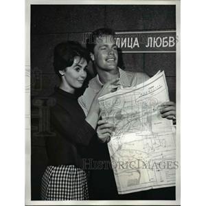1961 Press Photo Millie Perkins Doug McClure The U.S Steel Hour Street Of Love