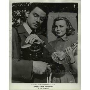 1955 Press Photo Dany Robin and Michel Auclair in Holiday for Henrietta