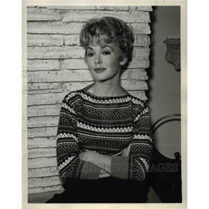 1960 Press Photo Barbara Rush in Born a Giant - orp24021