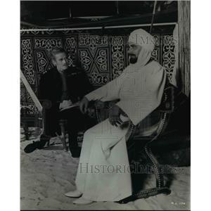 1966 Press Photo Charlton Heston Laurence Olivier Khartoum - orp23021