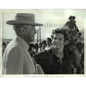 1971 Press Photo Ray Milland & Dack Rambo in River of Gold - orp24267