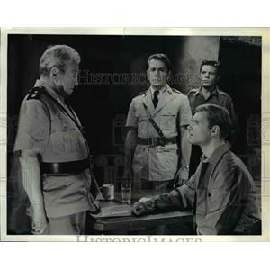1962 Press Photo Claude Rains and Keir Dullea in The Outpost - orp23987