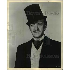1957 Press Photo David Niven as Phileas Fogg in Around the World in 80 Days