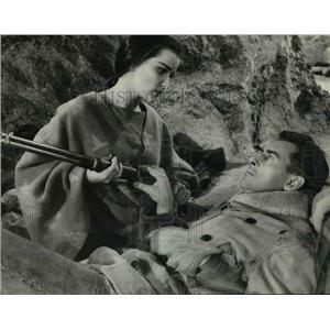 1956 Press Photo Debra Paget in The Last Hunt - orp23738