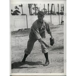 1934 Press Photo Duke D Hamlin pitcher Detroit Tigers - nes25583