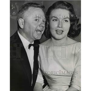 1958 Press Photo Mickey Rooney and wife Elaine Mahnken at Emmy Awards Hollywood