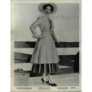 1954 Press Photo Merle Oberon Deep In My Heart - orp22994