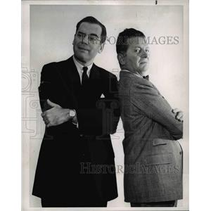 1964 Press Photo Elliott Reed and Henry Morgan star in That was the Week That Wa