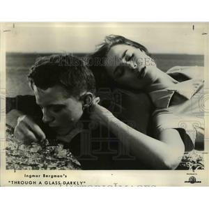 1962 Press Photo Lars Passgard and Harriet Andersson in Through A Glass Darkly