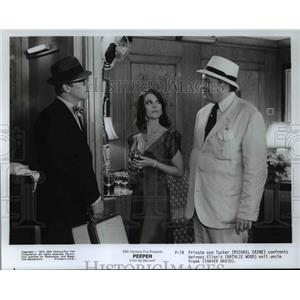 1975 Press Photo Michael Caine Natalie Wood and Thayer David in Peeper