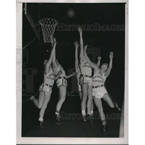 1938 Press Photo Southern Calif basketball in a game - nes25617