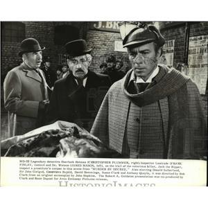 1979 Press Photo Christopher Plummer James Mason Frank Finlay Murder by Decree