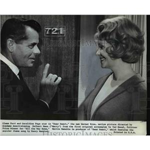 1965 Press Photo Glenn Ford and Geraldine Page star in Dear Heart - orp23743