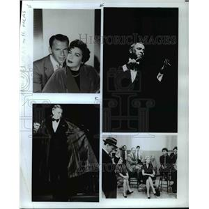 1986 Press Photo Frank Sinatra Ava Gardner Lauren Bacall and Sophia Loren