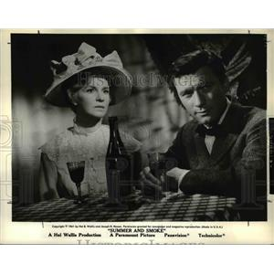 1962 Press Photo Geraldine Page and Laurence Harvey star in Summer and Smoke