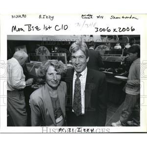 1990 Press Photo Izzy Covalt and son Fred Jensen of Izzy's Pizza Restaurants