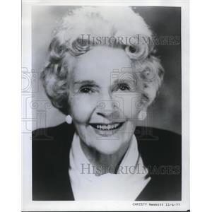 1977 Press Photo Cathleen Nesbitt English Actress