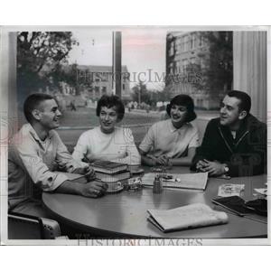 1960 Press Photo Her Zimmer, Barbara Brade, Judy Hepplewhite, Jim Swingle