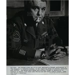 1969 Press Photo Rod Steiger in The Sergeant - orp26846