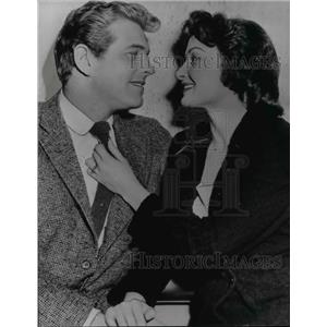 1956 Press Photo Actress Carol Ohmart & Actor William Preston Marry
