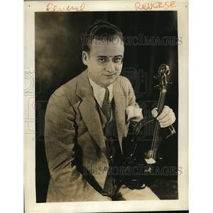 1930 Press Photo Michel Gusikoff violinist on Brazilian American Coffee Matinee