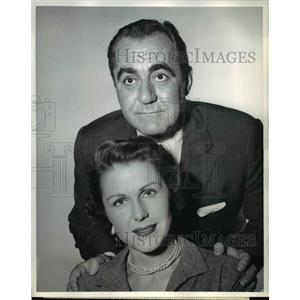 1955 Press Photo Helen Parrish & Jim Backus in If i were rich