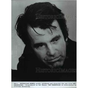 1974 Press Photo Maximilian Schell in The Pedestrian