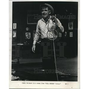1972 Press Photo James Whitmore in Will Rogers USA