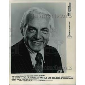 1968 Press Photo Ted Knight co-hosts The Mike Douglas Show - orp25510