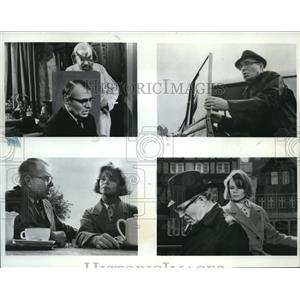 1966 Press Photo James Mason, Hugh Griffith & Jill Bennett in Dare I Weel