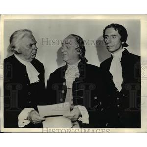 1936 Press Photo Yorke Sherwood & William Wagner in Lloyds of London - orp26077