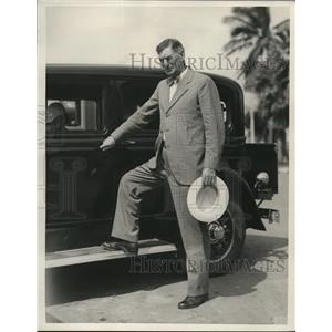 1933 Press Photo Edward Ginson Ex fire chief of Chicago
