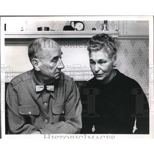 1956 Press Photo Mr. Mrs. Joseph in Person to Person