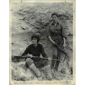 1961 Press Photo Irene Papas & Gia Scala in Guns of Navarone - orp22059
