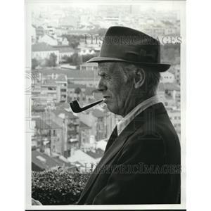 1973 Press Photo Richard Widmark on Magician - orp27903