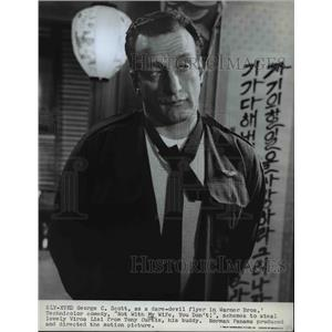 1970 Press Photo George C. Scott stars in Not With My Wife You Don't - orp26521