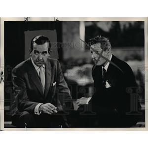 1957 Press Photo Edward R Marrow of 60 Minutes - orp25323