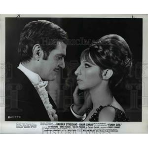 1969 Press Photo Omar Sharif, Barbara Streissand in Funny Girl - orp25907