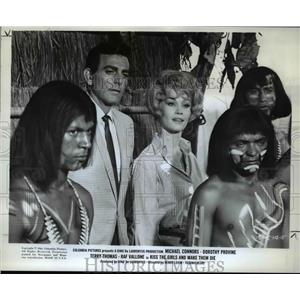 1967 Press Photo Dorothy Provine Michael Connor Kiss The Girls and Make Them Die