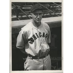 1929 Press Photo Henry Grampo, relief hurler for the Chicago Cubs