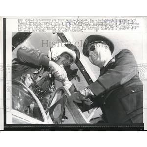 1985 Press Photo Capt. Robert Kilpatrick in RF-101 Voodoo reconnaissance jet